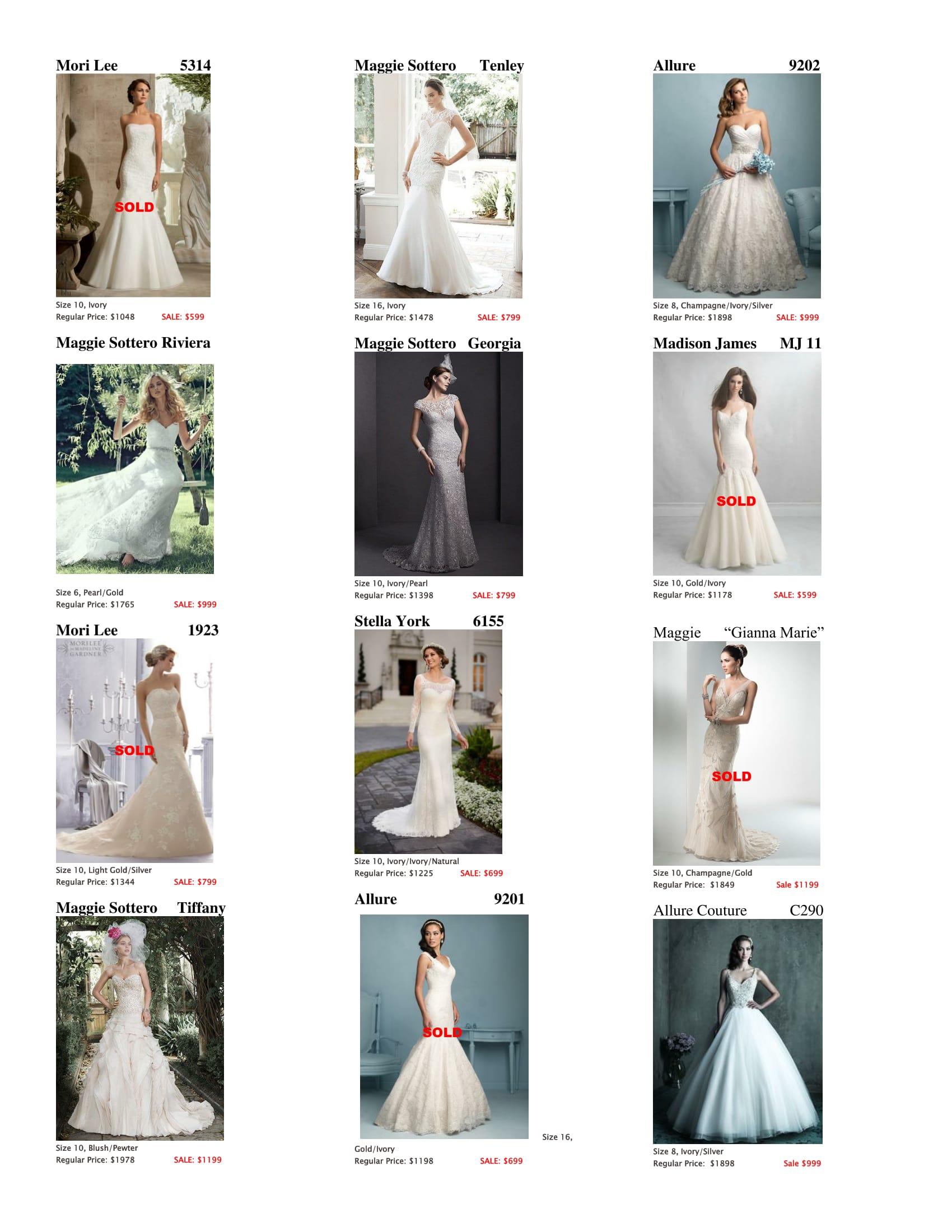 Closeout Sale Gowns | Belle Saison Bridal Austin Texas